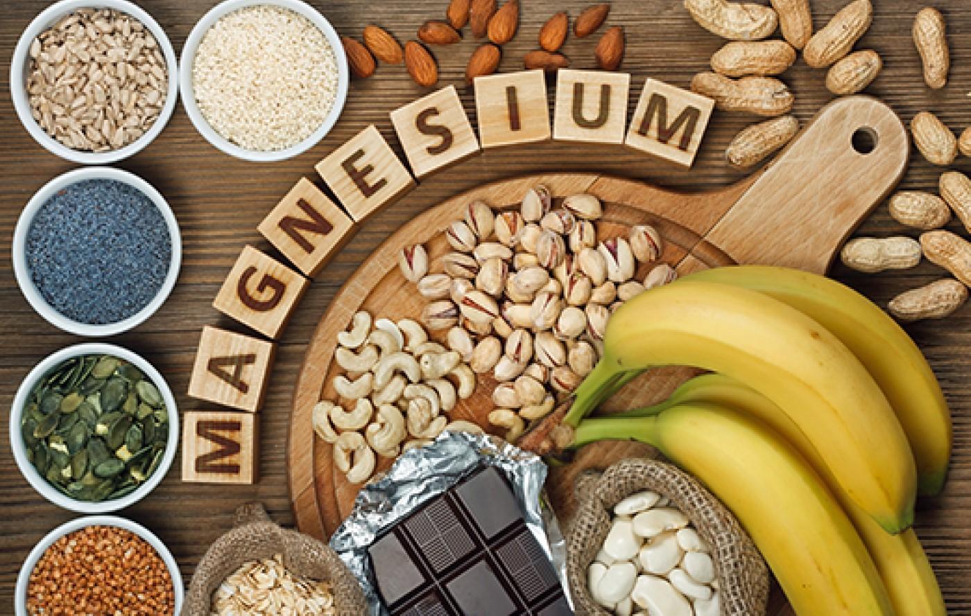 Une assiette rempli de magnésium